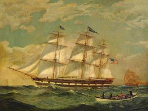 Ship Houqua, 1841 by Thomas Birch