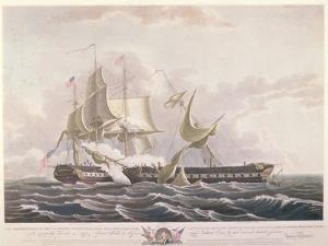 The Battle Between the Uss Constitution and the Hms Guerriere by Thomas Birch