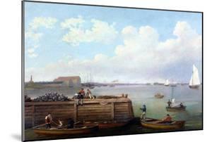 View of the Philadelphia Navy Yard by Thomas Birch