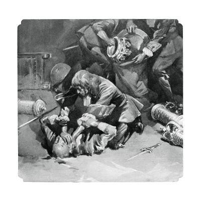 Thomas Blood Attempting to Steal the Crown Jewels from the Tower of London in 1671--Giclee Print