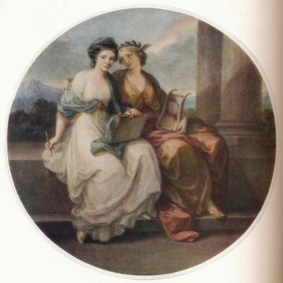 Angelica Kauffmann in the Character of Design listening to the Inspiration of Poetry, 1782, (1921)