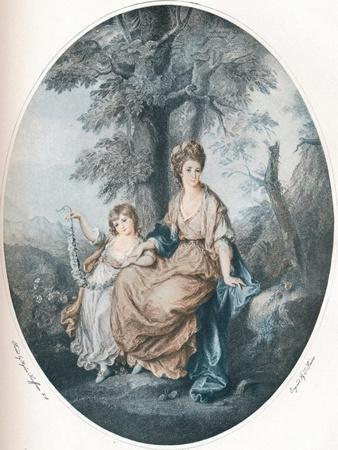 Lady Rushout and Her Daughter, 1784, (1902)