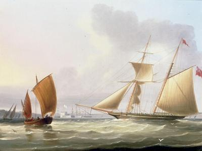 A Schooner and Other Shipping