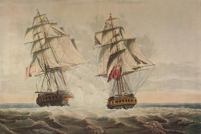 'Capture of the President', c1815 by Thomas Buttersworth