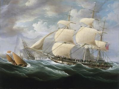 Frigate Entering Gibraltar Harbor by Thomas Buttersworth