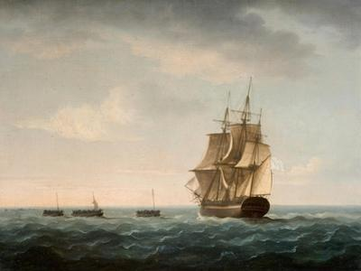 Rescue of the Guardian's Crew by a French Merchant Ship, 2nd January 1790 by Thomas Buttersworth