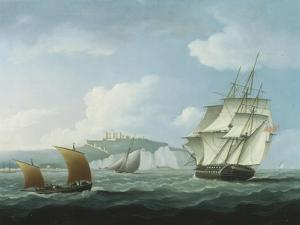 Shipping off Dover Castle by Thomas Buttersworth