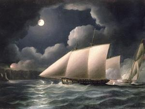 Smugglers and Revenue Cutter by Thomas Buttersworth
