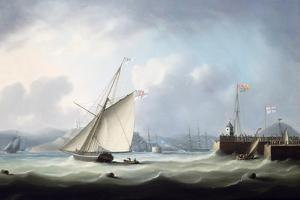 The Arrival of George IV at Leith Harbour, 1822 by Thomas Buttersworth