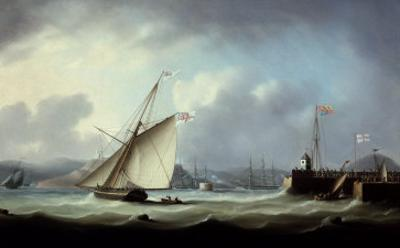 The Arrival of George IV at Leith Harbour by Thomas Buttersworth