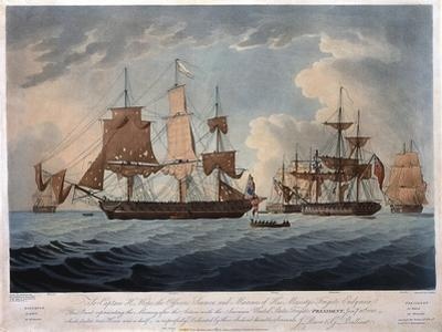 The Morning after the Action with the American United States Frigate, President by Thomas Buttersworth