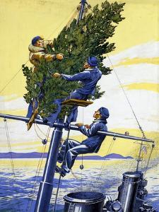 Christmas Tree on Masthead by Thomas C. Skinner
