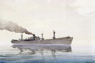 Liberty Ship Roger Williams, 1942 by Thomas C. Skinner