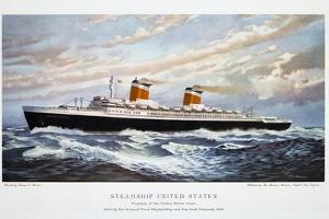 Passenger Ship Ss United States by Thomas C. Skinner