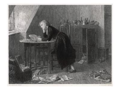 Thomas Chatterton the Young English Poet at Work--Giclee Print