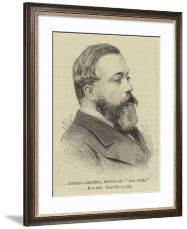 Thomas Chenery, Editor of The Times--Framed Giclee Print