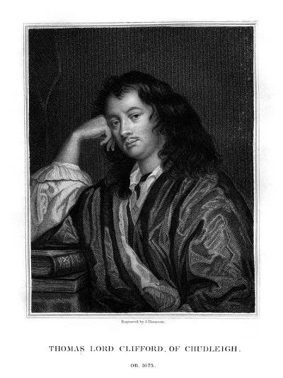 Thomas Clifford, 1st Baron Clifford of Chudleigh, English Statesman and Politician-J Thomson-Giclee Print