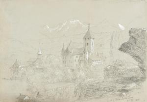 Castle of Spiez, 1841 by Thomas Cole