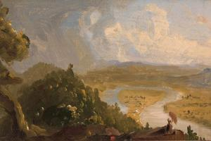 Sketch for View from Mt Holyoke, Northampton, Massachusetts, after a Thunderstorm (The Oxbow), 1836 by Thomas Cole