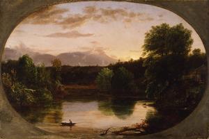 Sunset, View on Catskill Creek, 1833 by Thomas Cole