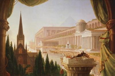 The Architect's Dream, Painting by Thomas Cole