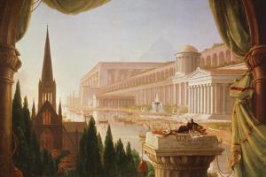 The Architect's Dream, Painting by Thomas Cole by Thomas Cole