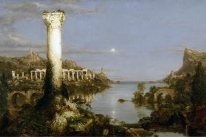 The Course of Empire - Desolation by Thomas Cole