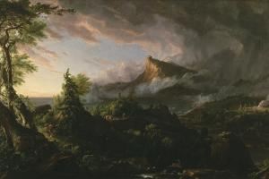 The Course of Empire: the Savage State, 1833-36 by Thomas Cole