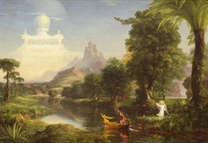 The Voyage of Life: Childhood, 1842 by Thomas Cole