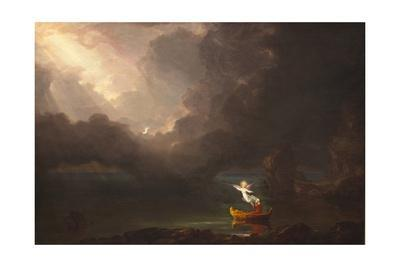 The Voyage of Life Childhood by Thomas Cole Giclee Fine ArtRepro on Canvas