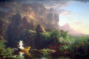 Voyage Of Life-Childhood by Thomas Cole
