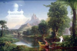 Voyage Of Life-Youth by Thomas Cole