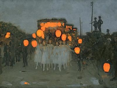 The Lantern Parade c.1918 by Thomas Cooper Gotch