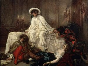 After the Masquerade, 1850S by Thomas Couture