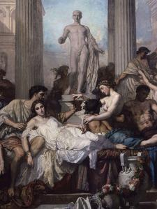 Detail, Les Romains De La Decadence (The Romans of the Decadence), 1847 by Thomas Couture