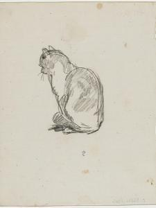 Etude de chat (Villiers) by Thomas Couture