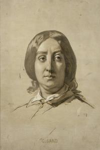 George Sand (1804-1876), écrivain - esquisse by Thomas Couture