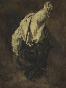 Homme vu de dos : personnage du serrurier by Thomas Couture