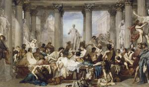 Les Romains de la Décadence by Thomas Couture