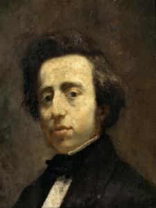 Portrait of Frédéric Chopin by Thomas Couture