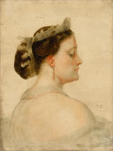 Portrait of Mathilde Bonaparte (1820-190), Princesse Française by Thomas Couture