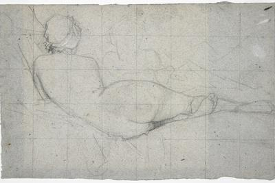 Recumbent Female Nude and Partial Study of a Second Female Figure, C. 1855-1860