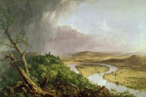 The Oxbow, View from Mount Holyoke, Northampton, Massachusetts, after a Thunderstorm, 1836 by Thomas Couture