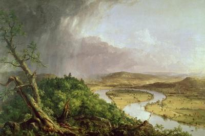 The Oxbow, View from Mount Holyoke, Northampton, Massachusetts, after a Thunderstorm, 1836