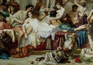 The Romans of the Decadence, Detail of the Central Group, 1847 by Thomas Couture