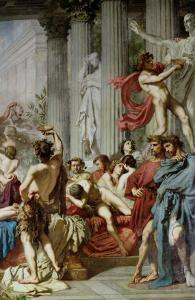 The Romans of the Decadence, Detail of the Right Hand Group, 1847 by Thomas Couture
