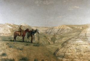 Cowboys in the Badlands, c.1887 by Thomas Cowperthwait Eakins
