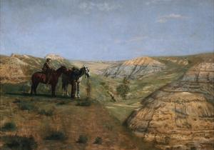 Cowboys in the Badlands by Thomas Cowperthwait Eakins