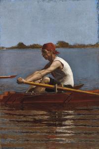 John Biglin in a Single Scull, 1874 by Thomas Cowperthwait Eakins