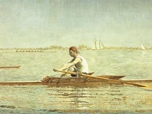 John Biglin in a Single Scull by Thomas Cowperthwait Eakins